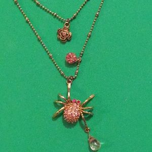 Betsey Johnson cute spider necklace Halloween